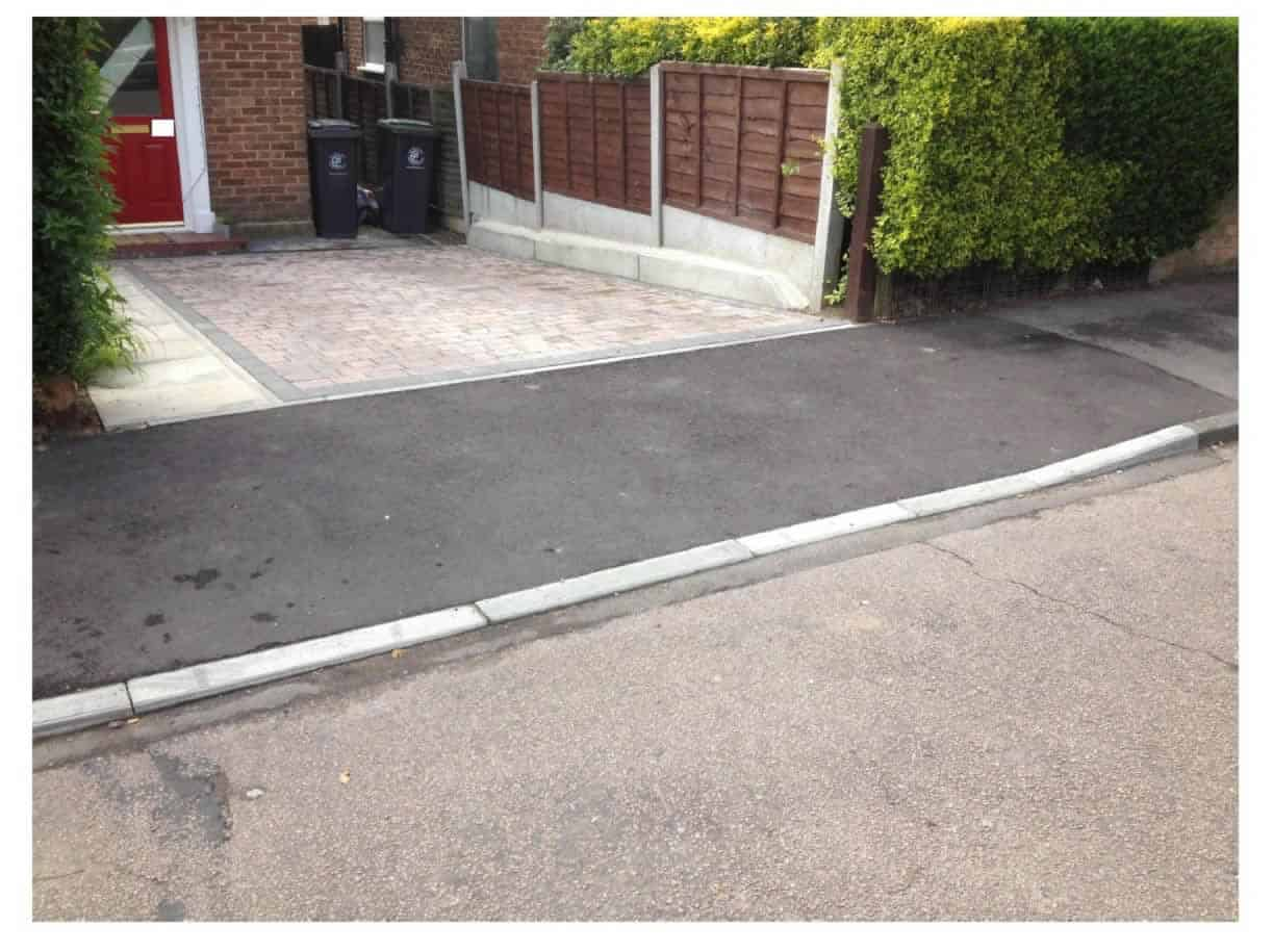 landscaping and kerb